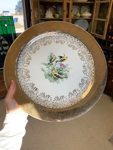 Georgian 22kt Gold China Serving Plate