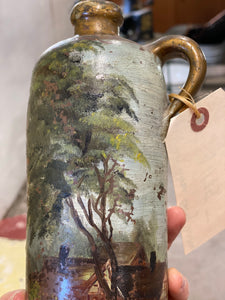 Hand Painted Salt Glaze Crock / Bottle