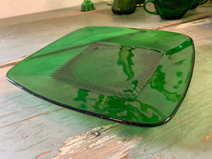 Square Glass Serving Plate