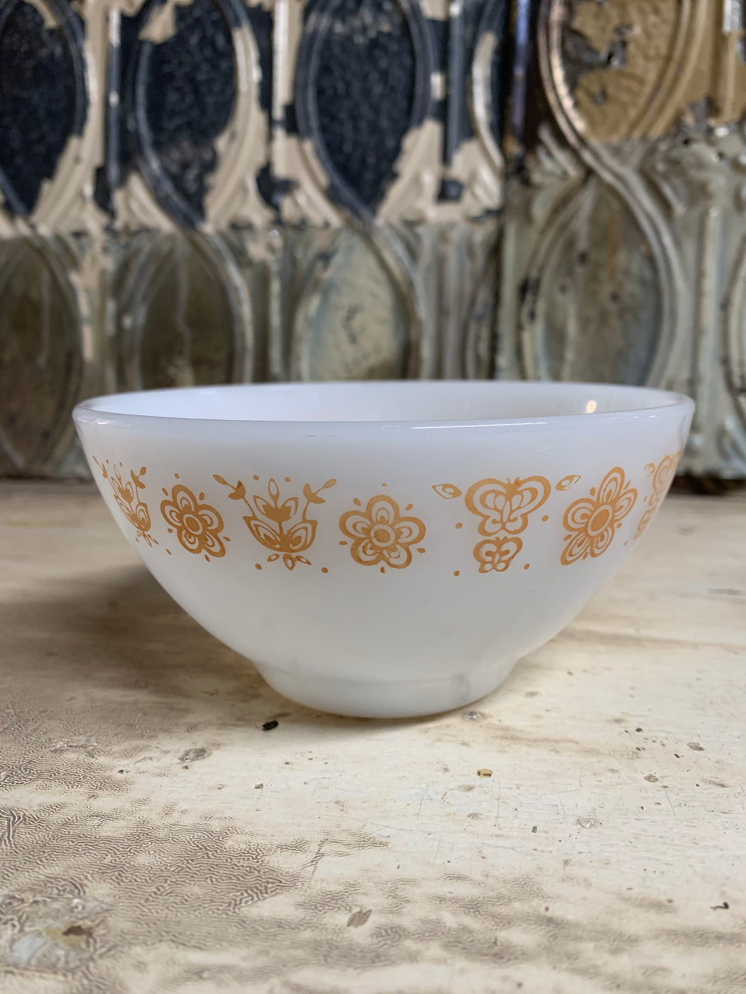 Pyrex Butterfly Gold Knock-off Bowl