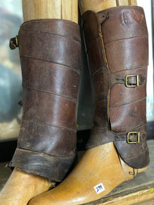 Wooden Military Boot Forms & Leather Spats