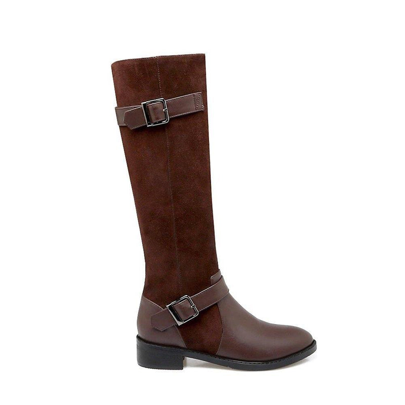 Botte Cuir Équitation Western Sangle