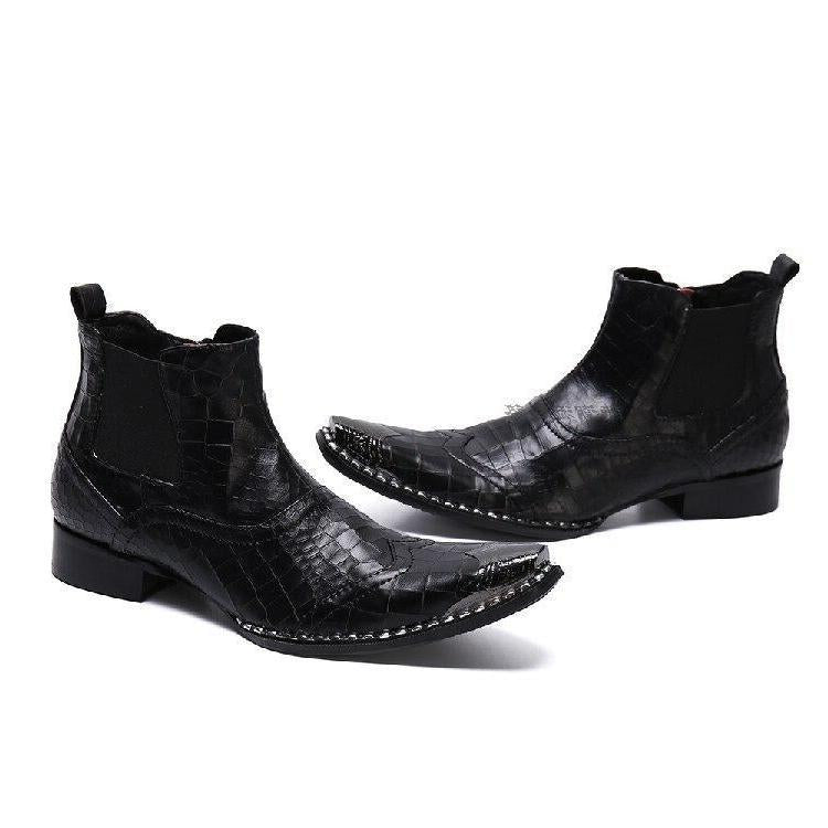 Botte Western Homme Cuir Luxe