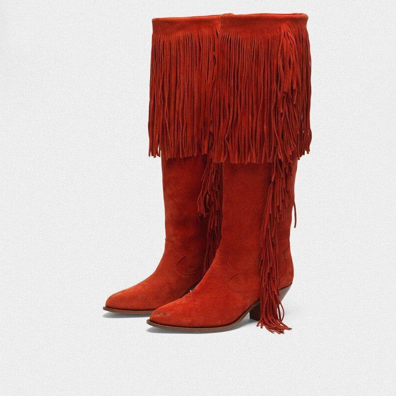 Bottes Western Cowgirl Rouges