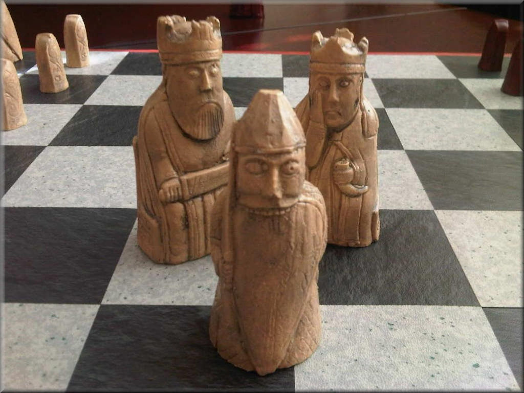 Hand-Carved Stone Chess