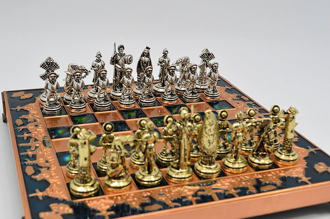 Spanish Chess Set - Blue