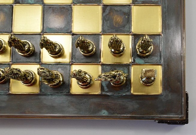 Greek Chess Set - Green Board