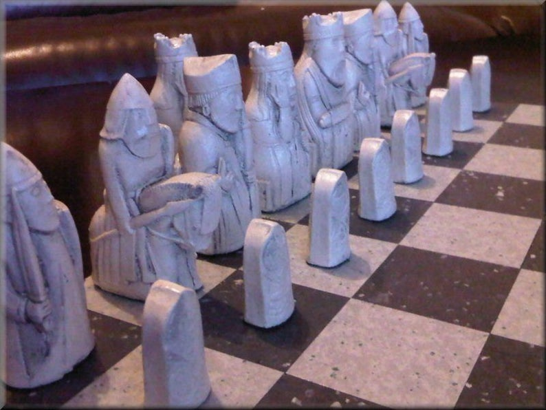 Isle of Lewis Chess Set - Black and White