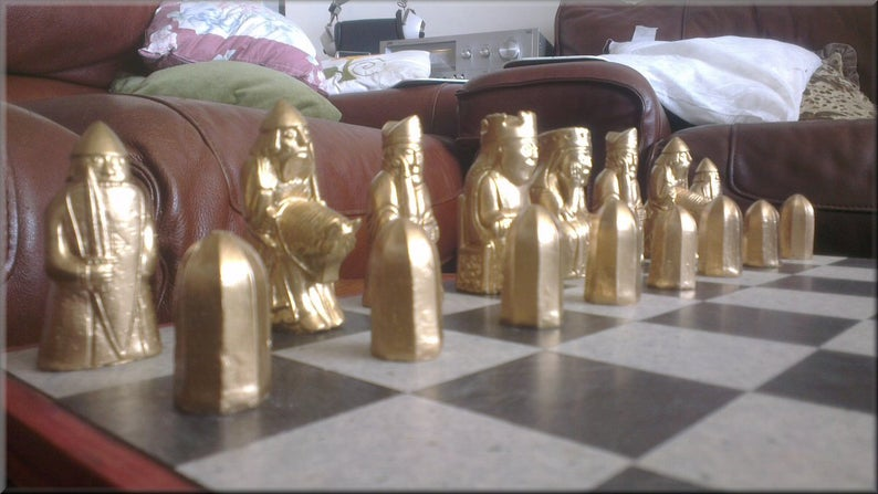 Isle of Lewis Chess Set - Metallic