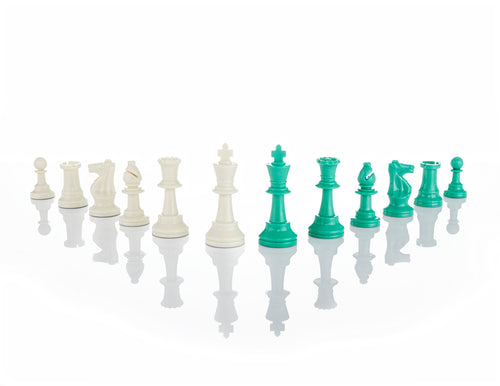 "Green Jigsaw Puzzle Chess Set 19.68"" x 19.68"""