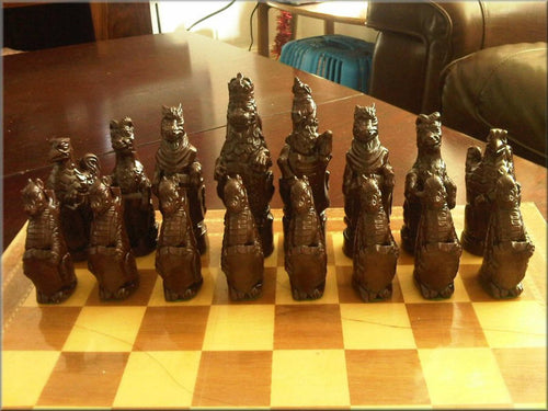 Royal Beasts chess set - Cream