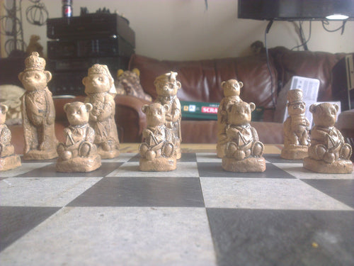 Handmade Animals Chess Set