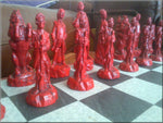 War of Independence Chess Set - Reds vs Blue