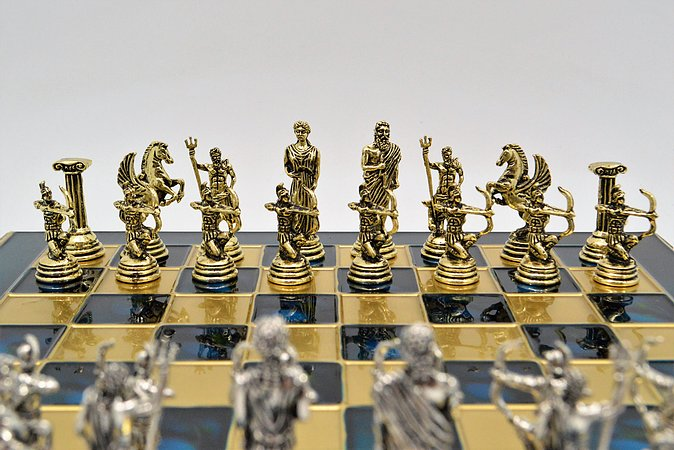 Archers Chess Set - Classic Blue Board