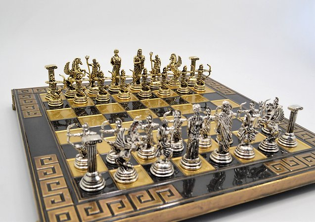 Archers Chess Set - Brown Board