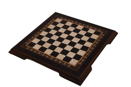 Carved Wooden Chess Set - Black