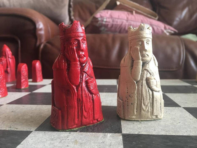 Isle of Lewis Chess Set - Red