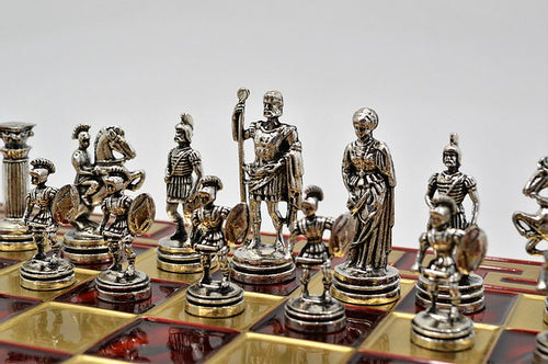 Roman Chess Set - Red Board