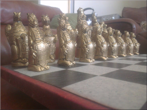 Royal Beasts Chess Set - Lions & Unicorns