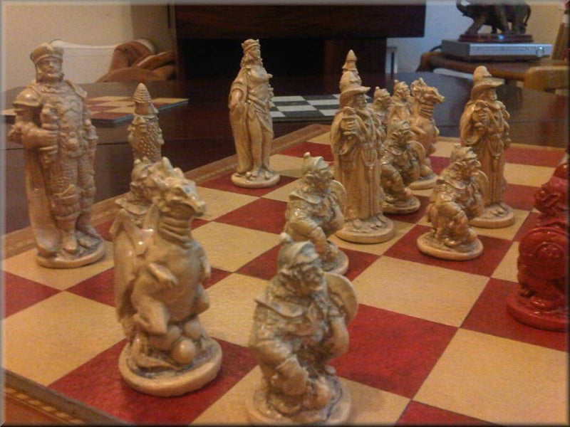 Wizards & Dragons Chess Set - Classic