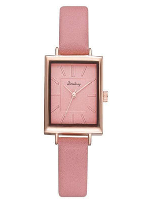 Cjdropshipping Watches Square Watch with Leather Strap for Women