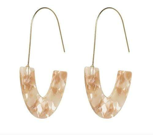 Milky Quartz Bags & Wallets Champagne Tan MILU EARRINGS
