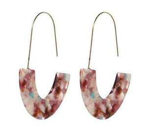 Milky Quartz Bags & Wallets Pebble MILU EARRINGS