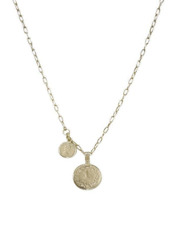 Orange Charlie Necklaces Simplicity Coin & Chain Necklace