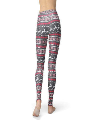 Orange Poppy Leggings Jean Grey Holiday Sweater Leggings