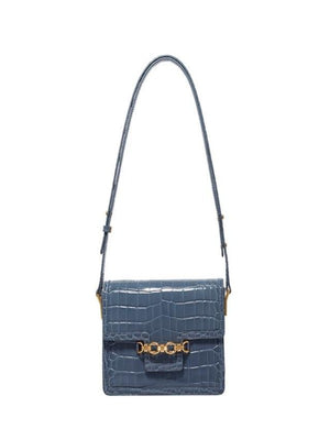 Crocodile leather shoulder bag