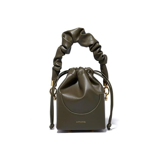Rosaline Army Green Small Portable Foldable Square Bag