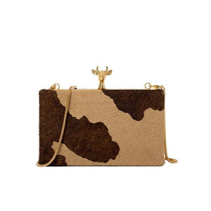 Rosaline as picture show Small square shoulder bag in cowhide style