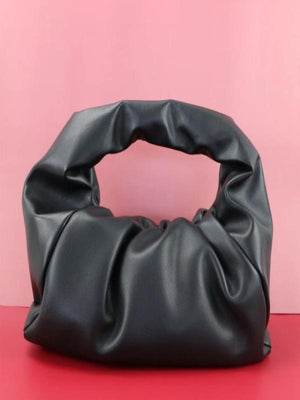 Rosaline bag Black / 41X20X17CM Soft leather handbag in the shape of a cloud