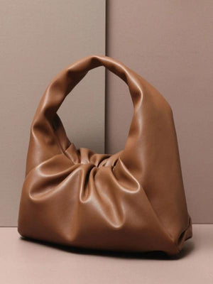 Rosaline bag Brown / 41X20X17CM Soft leather handbag in the shape of a cloud