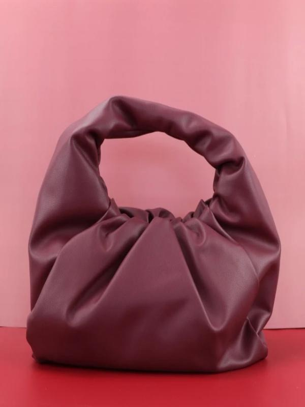 Rosaline bag Burgundy / 41X20X17CM Soft leather handbag in the shape of a cloud