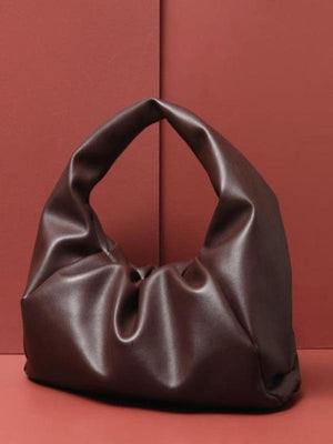 Rosaline bag Coffee / 41X20X17CM Soft leather handbag in the shape of a cloud