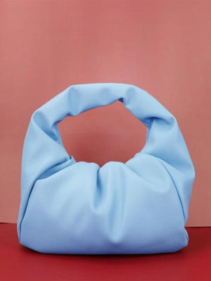 Rosaline bag Glacier blue / 30X26X8 CM Soft leather handbag in the shape of a cloud