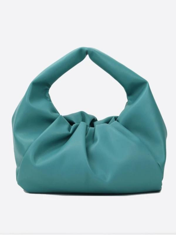 Rosaline bag Lake blue / 30X26X8 CM Soft leather handbag in the shape of a cloud