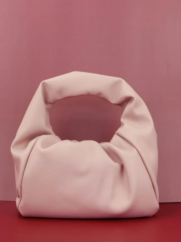 Rosaline bag nude / 30X26X8 CM Soft leather handbag in the shape of a cloud