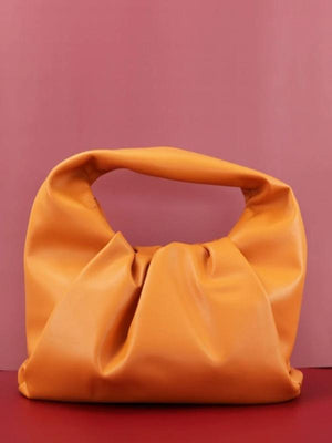 Rosaline bag Orange / 41X20X17CM Soft leather handbag in the shape of a cloud