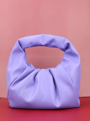 Rosaline bag purple / 30X26X8 CM Soft leather handbag in the shape of a cloud