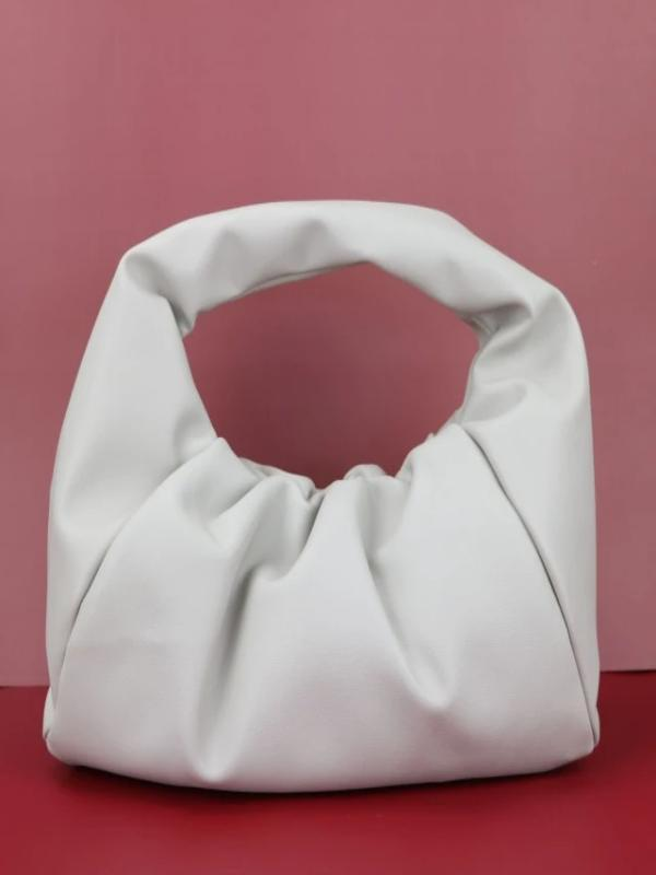 Rosaline bag White / 41X20X17CM Soft leather handbag in the shape of a cloud