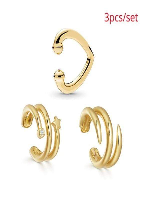 Rosaline Earrings 3pcs 2 Cuff earrings