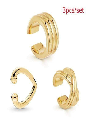 Rosaline Earrings 3pcs Cuff earrings