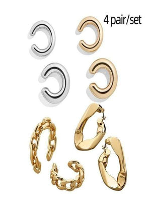 Rosaline Earrings 4pair 209551 Cuff earrings