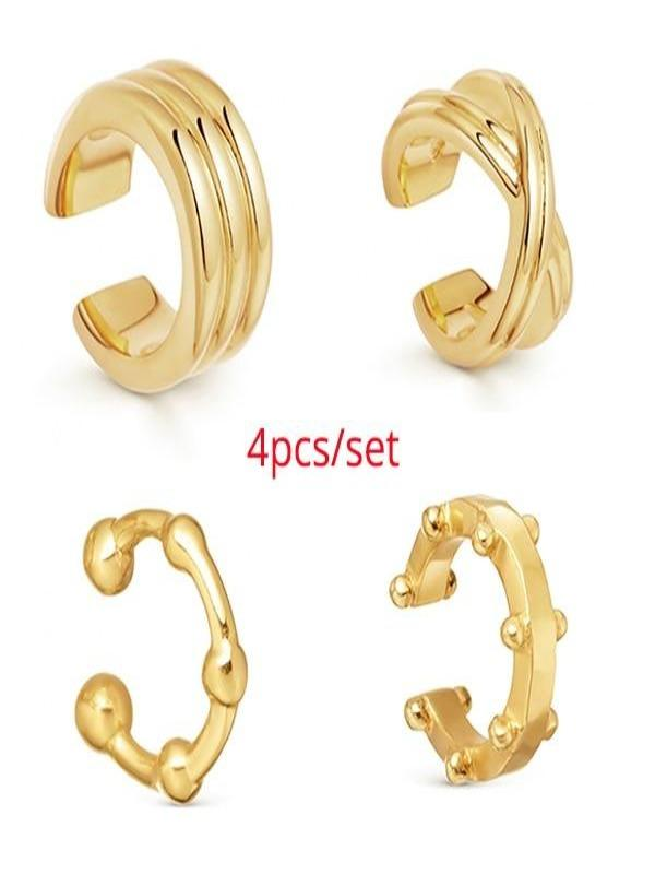 Rosaline Earrings 4pcs Cuff earrings
