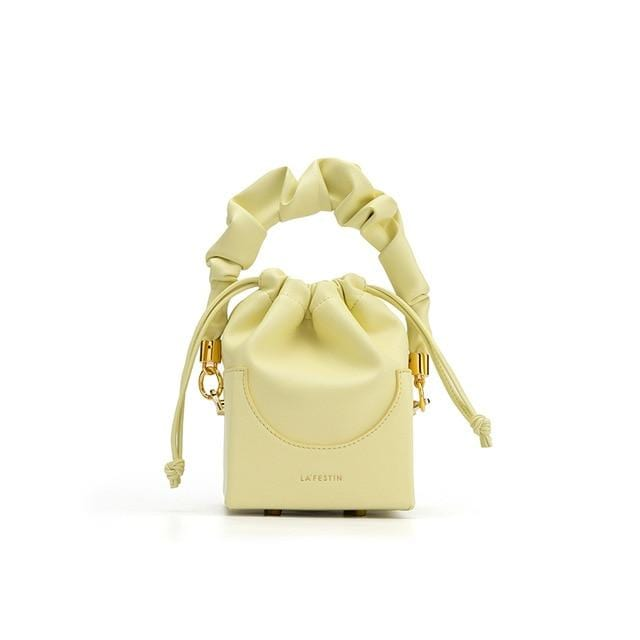 Rosaline Gold Small Portable Foldable Square Bag