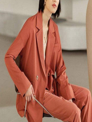 Rosaline Orange Red / S A casual and comfortable design suit