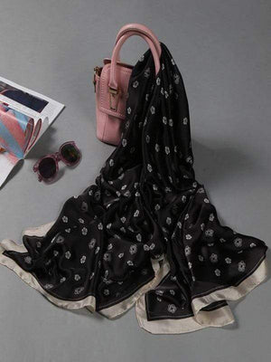 Rosaline scarf black Soft long scarf
