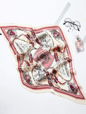 Rosaline scarf YZ31-RoseRed Curly scarf